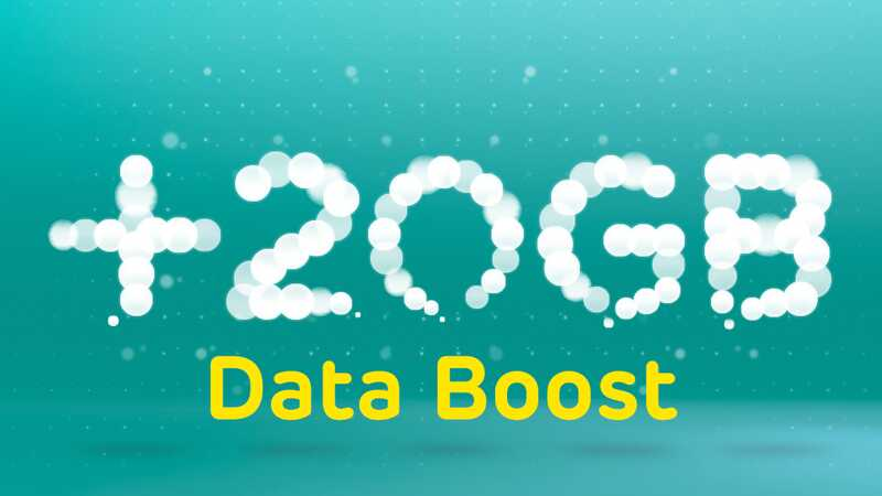 20GB data boost illistration