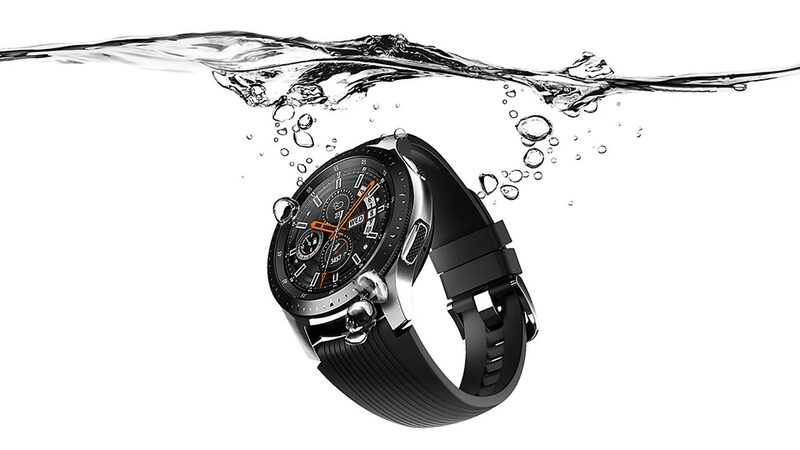 Samsung Galaxy Watch under water