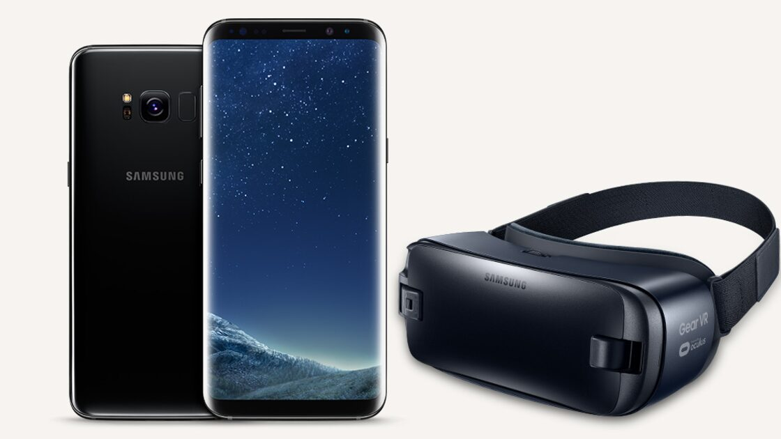 Samsung Galaxy S8 with VR headset