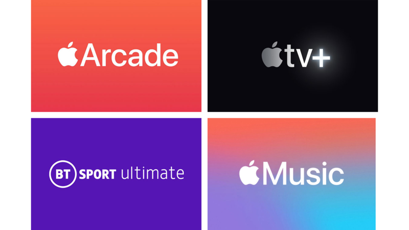 Four Smart Benefits Apple Arcade, Apple TV+, BT Sport Ultimate, Apple Music