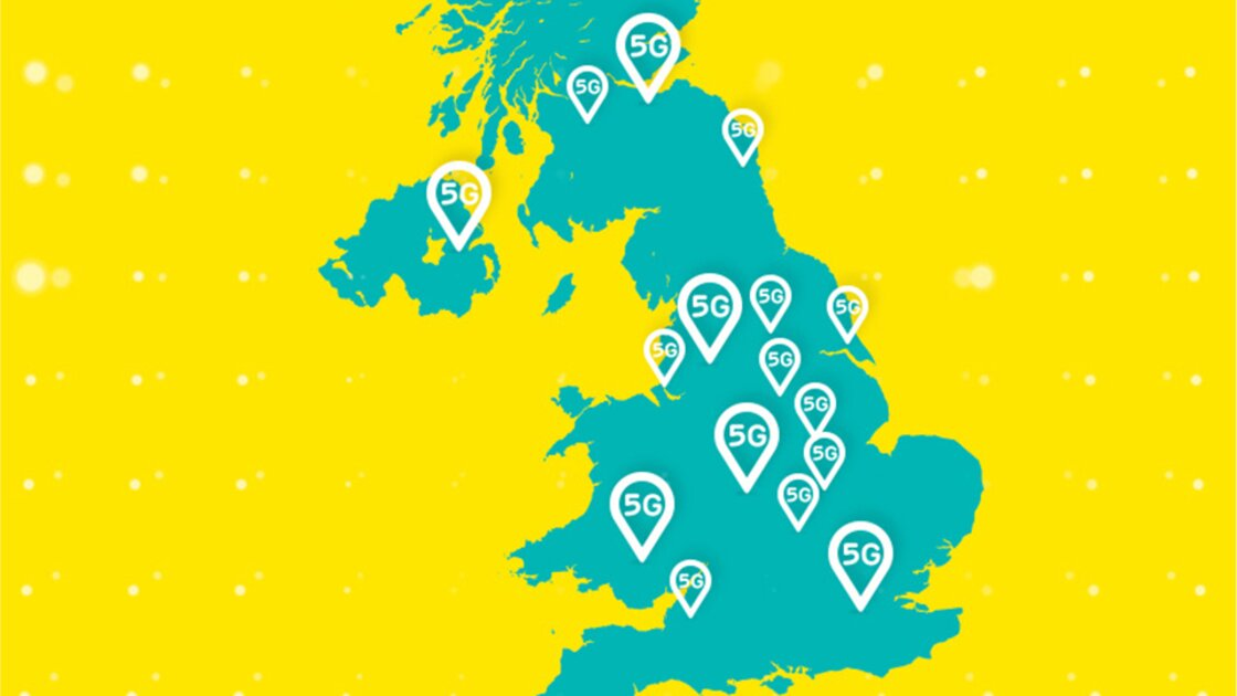 5G on EE is available in over 70 locations in the UK