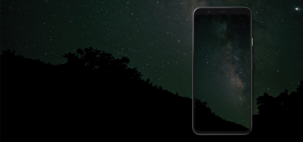 Google Pixel 4 captures an image of the stars at night in the sky with Night Sight
