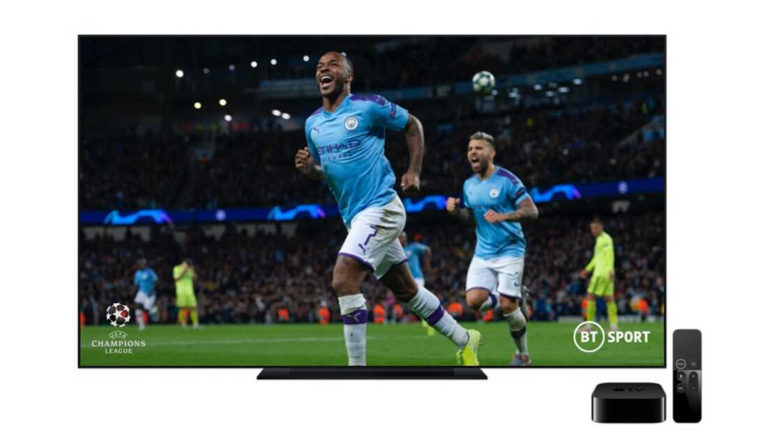 Add Apple TV with BT Sport to your plan and watch live Champions League football.