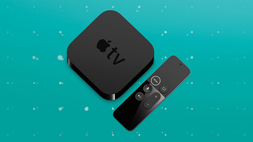 Apple TV 4K device and remote control