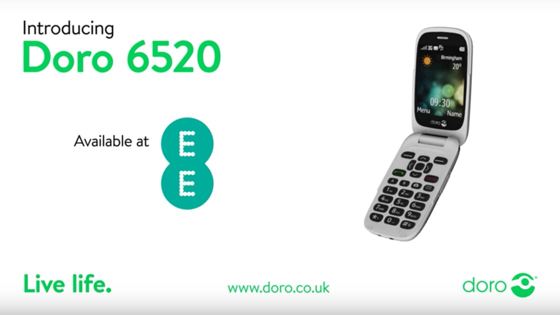 Doro 6520 screen size