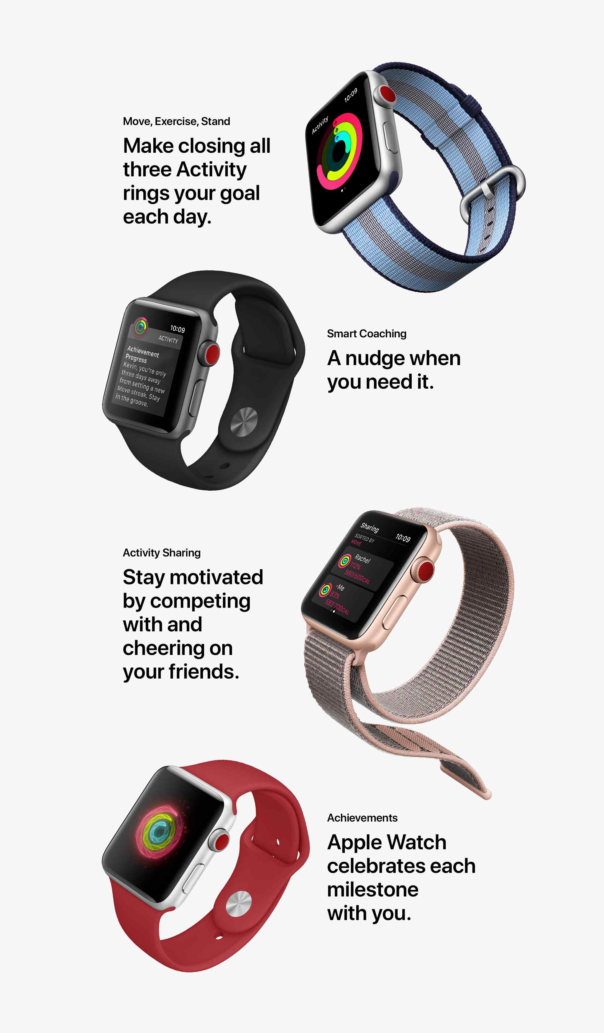 Apple Watch Series 3 Activity Features