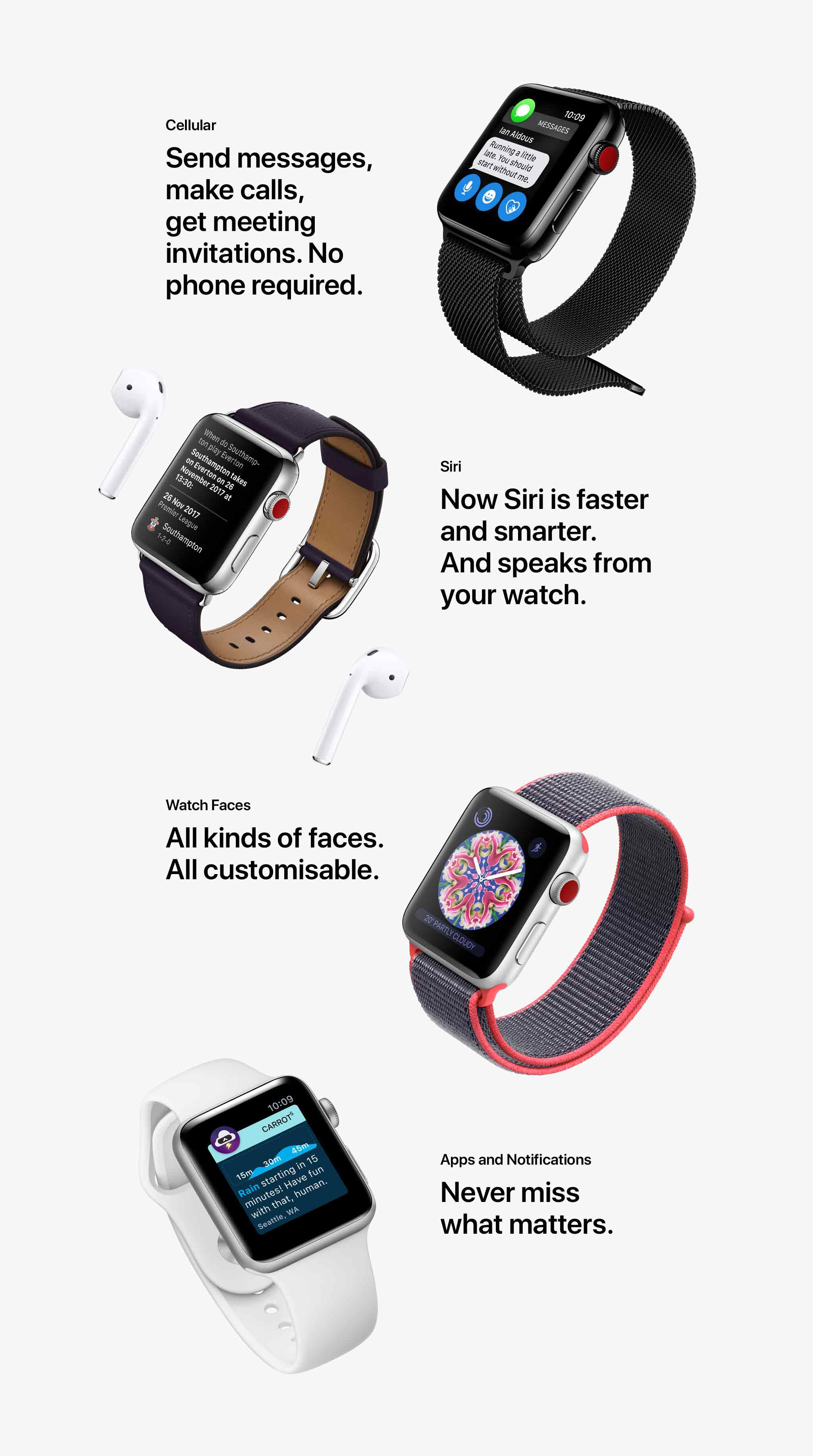 Apple Watch Series 3 extra features