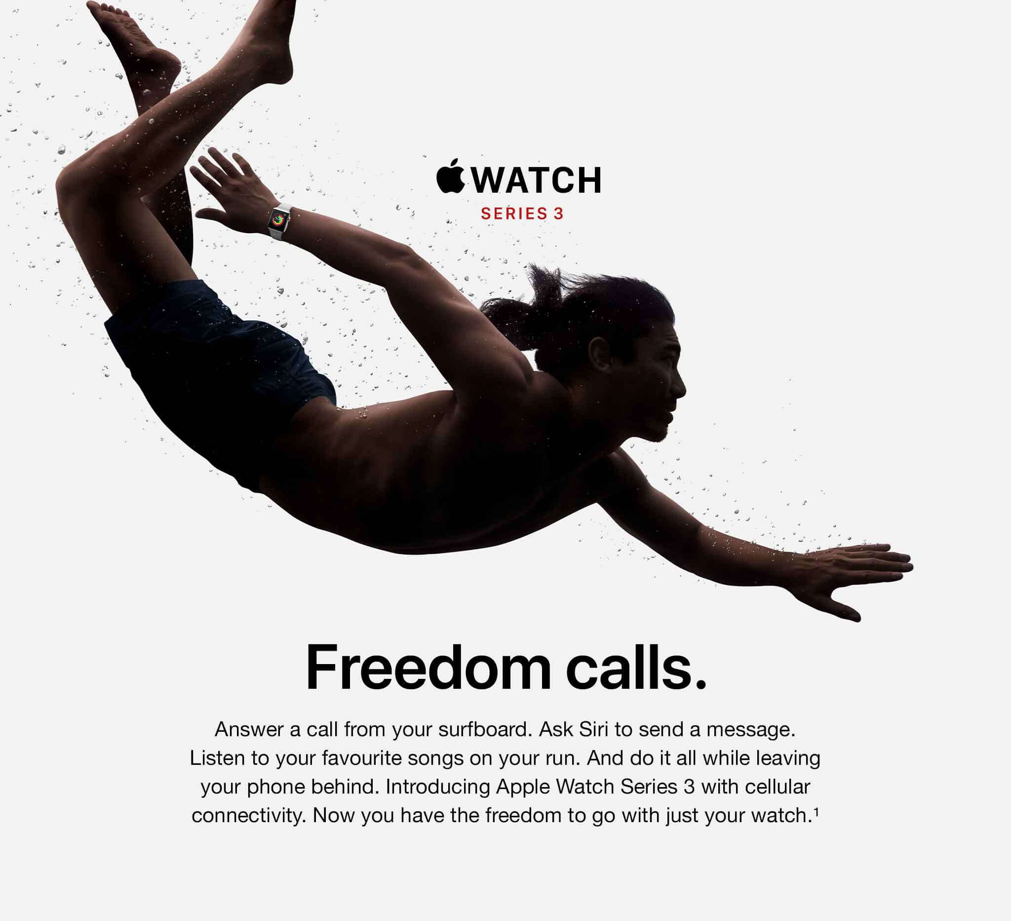 Apple Watch 3 freedom calls