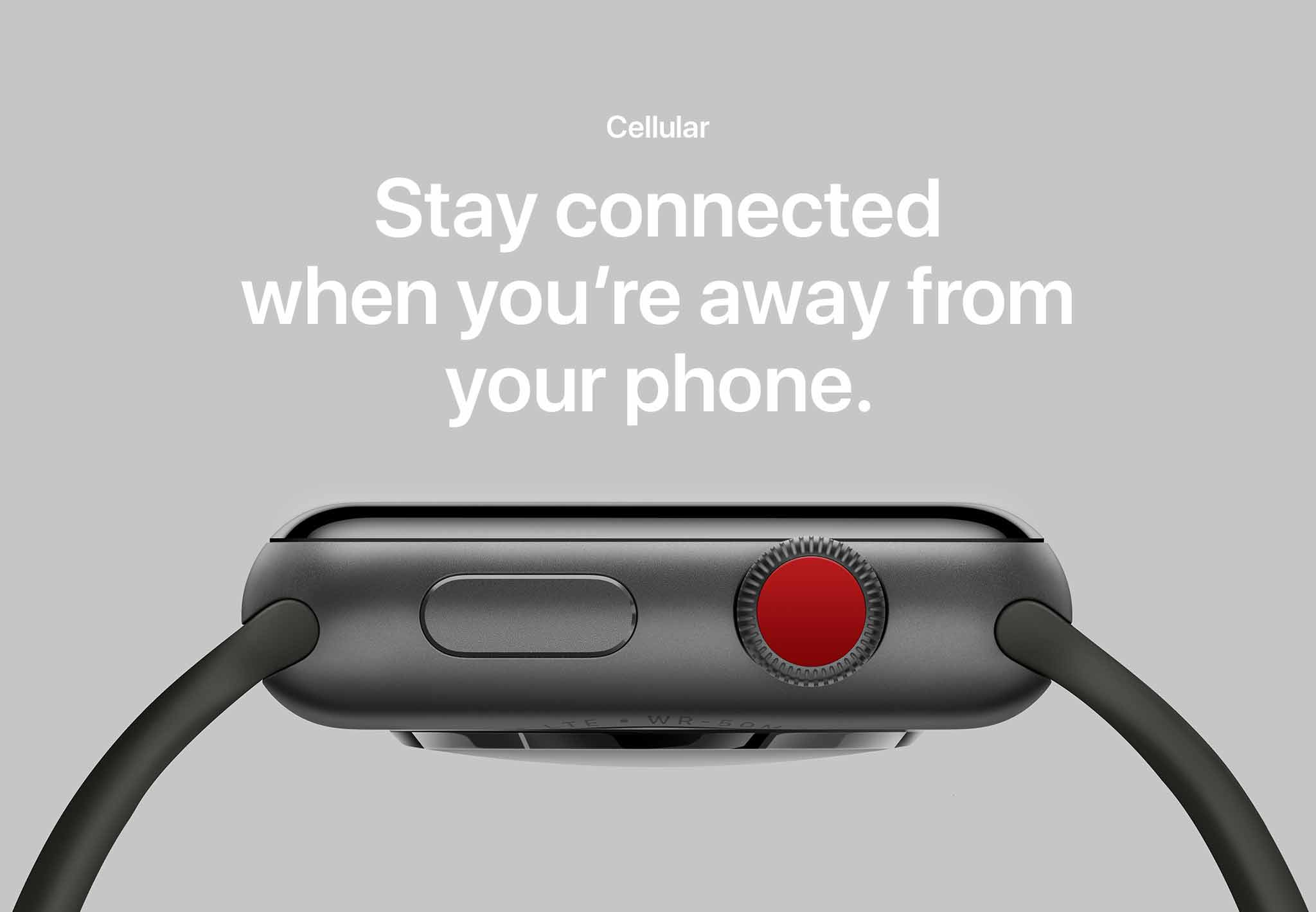Apple watch 3 stay connected