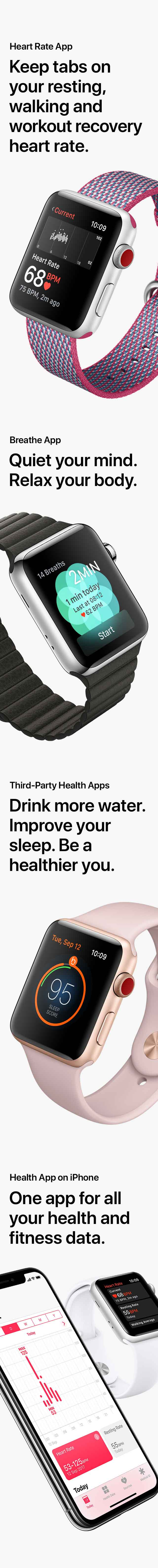 Apple Watch Series 3 Health Features
