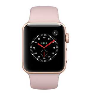 Apple Watch Series 3 (GPS + 4G) 38mm Gold Aluminium Case with Pink Sand Sport Band