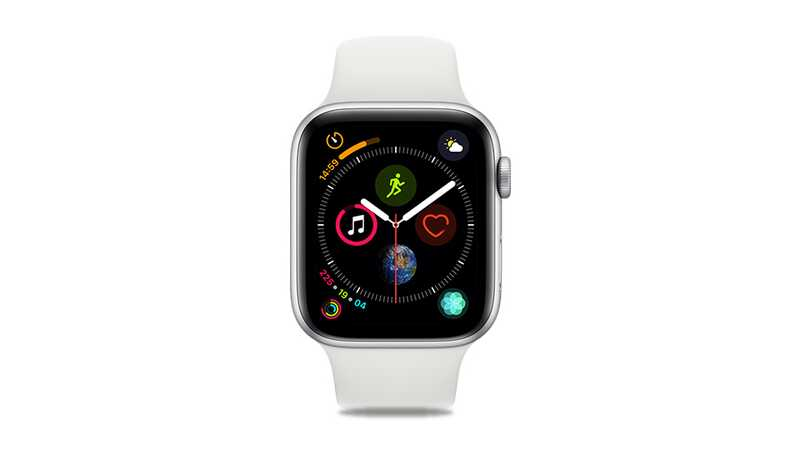 Apple Watch Series 4 (GPS + 4G) 44mm Silver Aluminium Case with White Sport Band