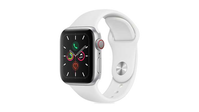 Apple Watch Series 5 (GPS + 4G) 40mm Silver Aluminium Case with White Band
