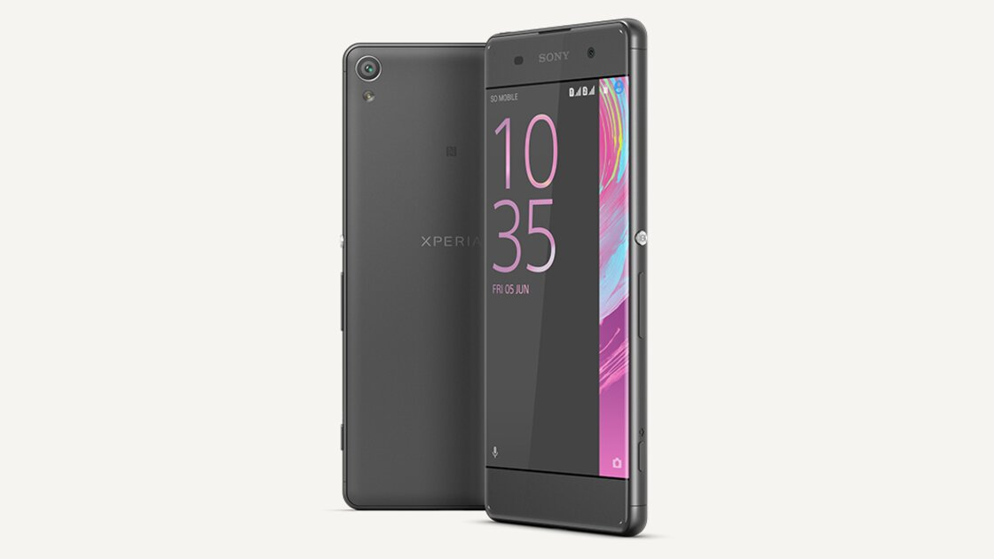 Sony Xperia XA back and front view
