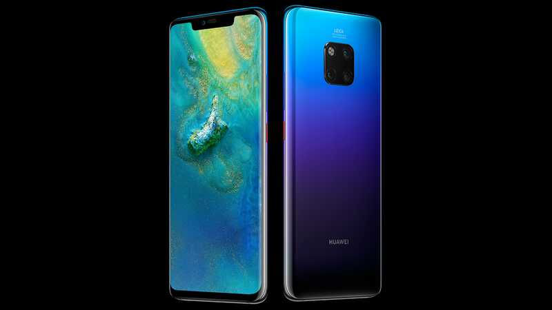 Huawei Mate 20 Pro front and back of smartphone
