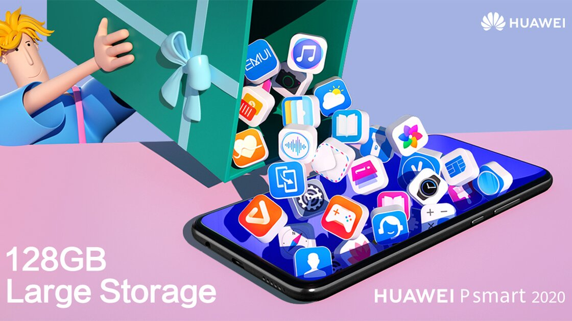 Huawei P Smart 2020 tons of storage space