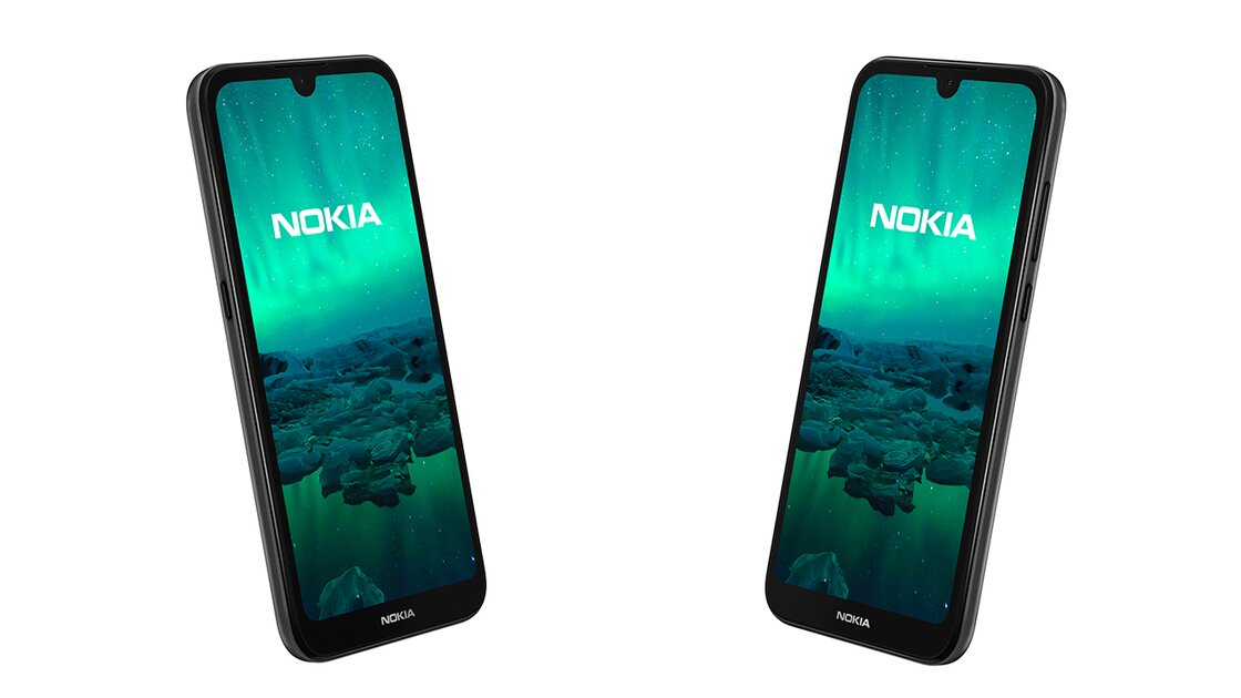 Nokia 1.3 front and side view