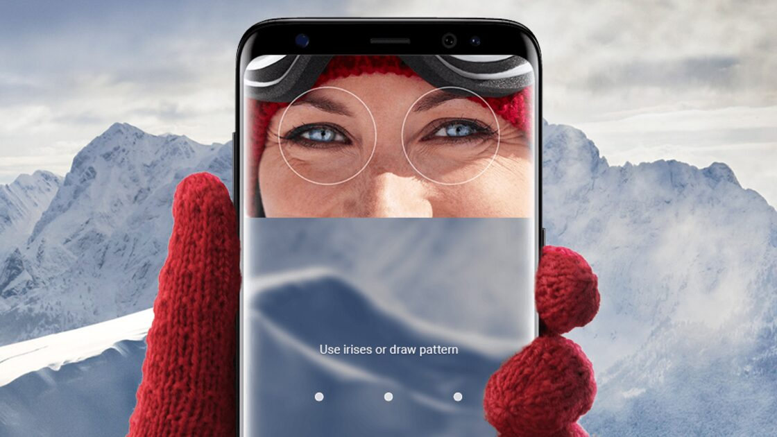 Samsung Galaxy S8 using eye scanning technology