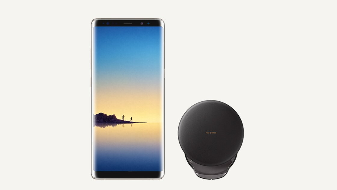Samsung Galaxy Note8 Maple Gold with Wireless Charger