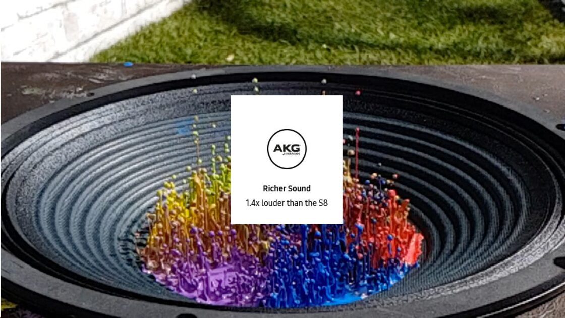 AKG stereo speaker - richer sound, 1.4x louder than the S8