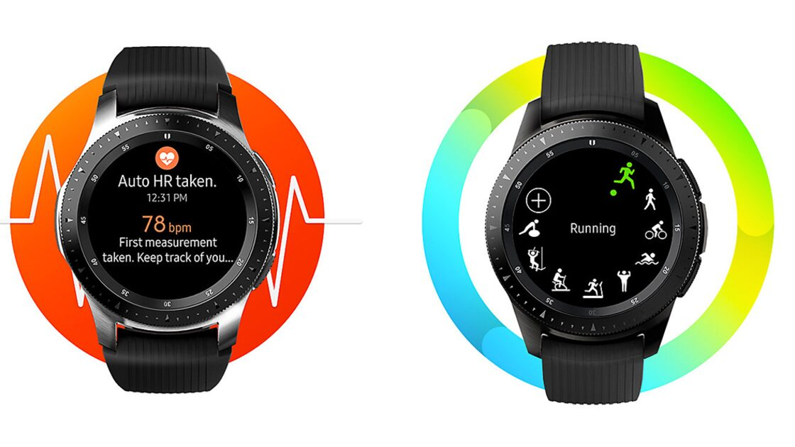 Samsung Galaxy 4G Watches in black side-by-side