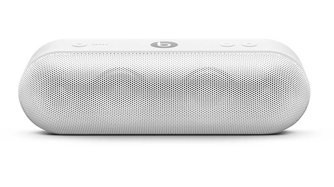 Beats Pill+ speaker in white