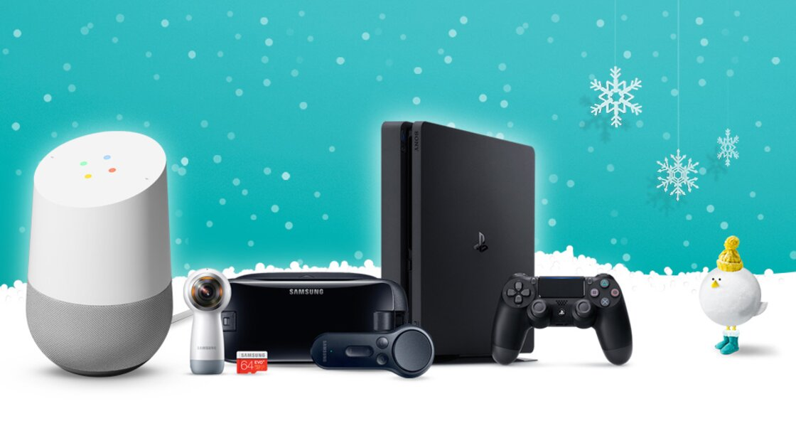 Google Home, Samsung VR Collection and PlayStation 4 Christmas gifts