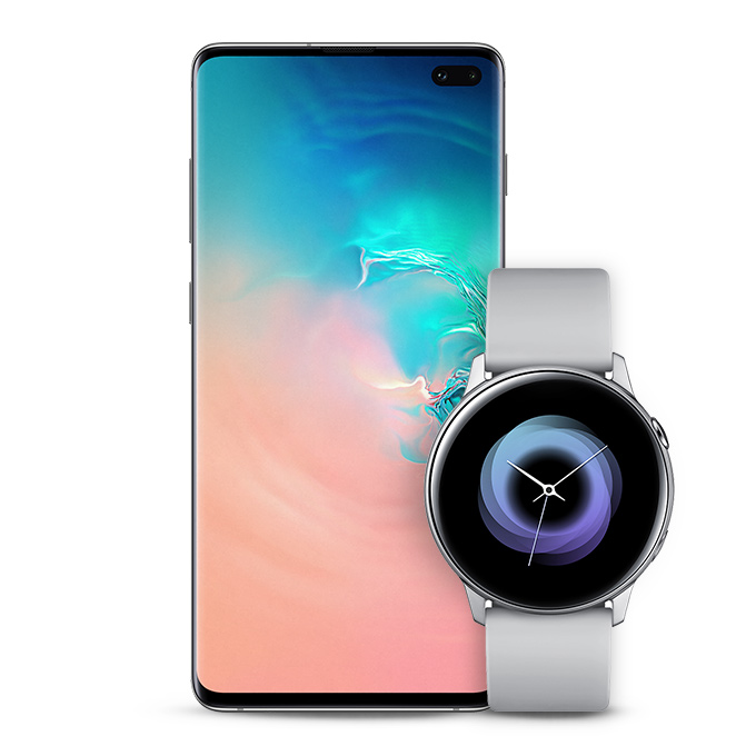 Samsung Galaxy S10+ and Galaxy Watch Active