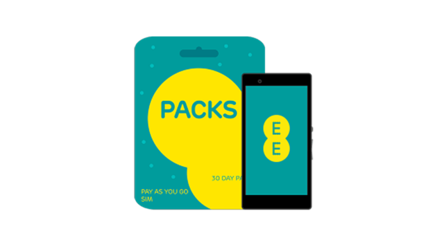 EE pay as you go pack and phone