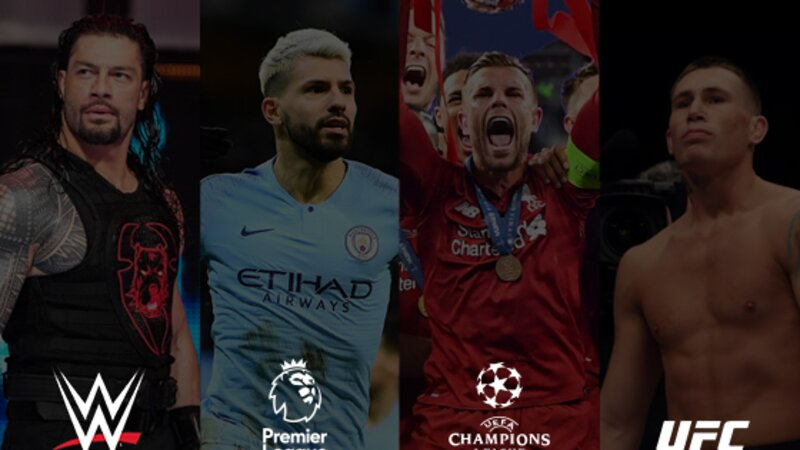 WWE, Premier League, UEFA Champions League and UFC