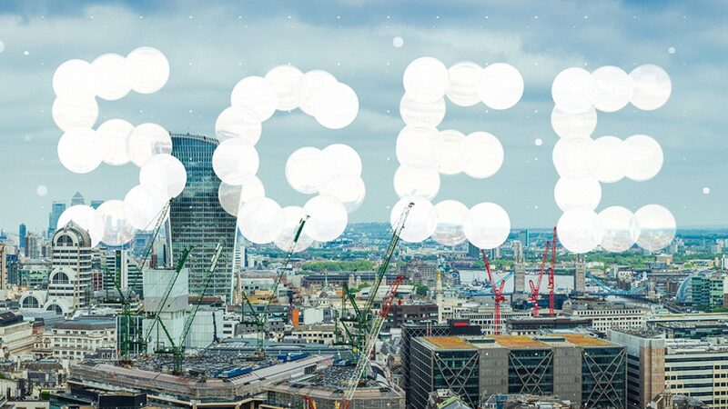 5GEE logo against a backdrop of London city skyline