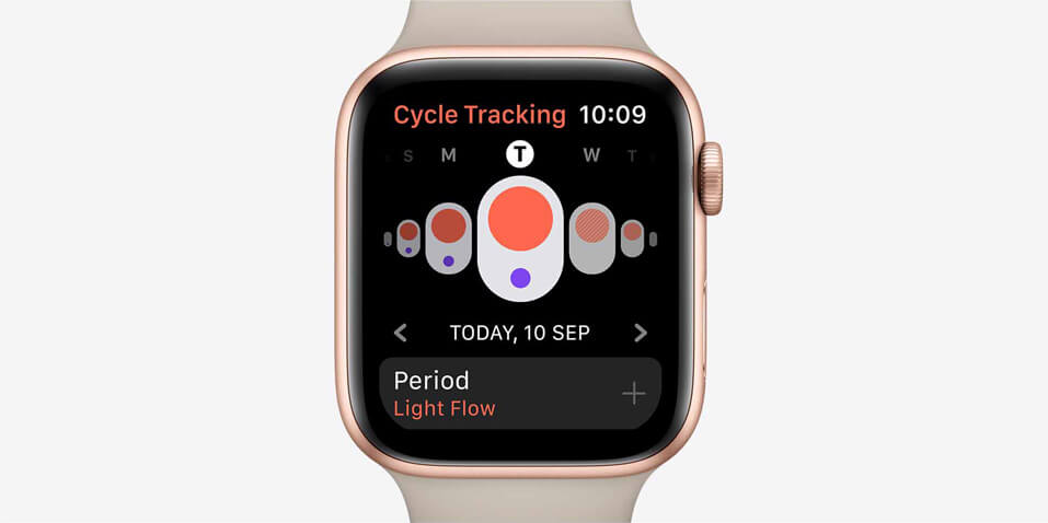 Apple watch series 5 cycle tracking app