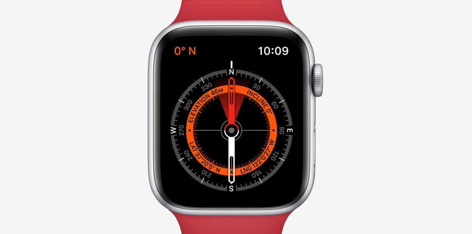 Apple watch series 5 with a compass