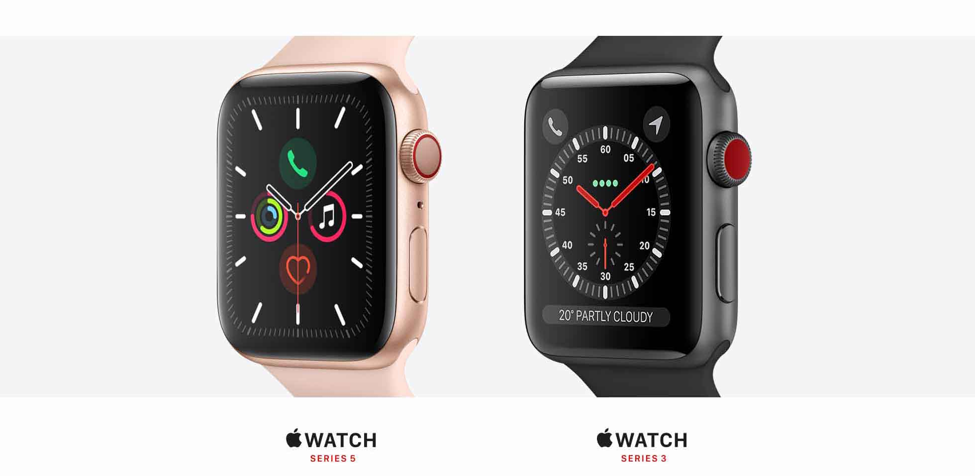 Apple watch series 3 and 5