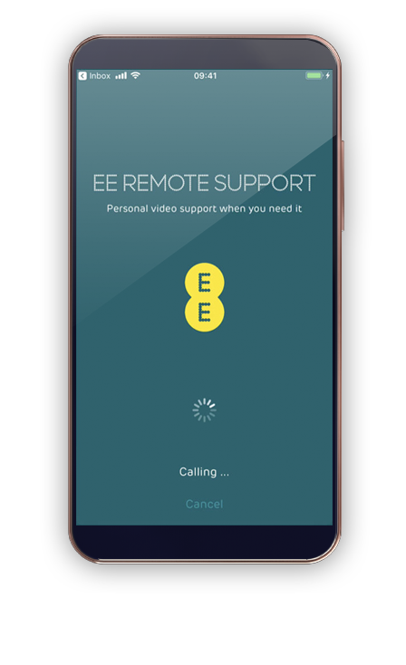 EE Remote Support app interface
