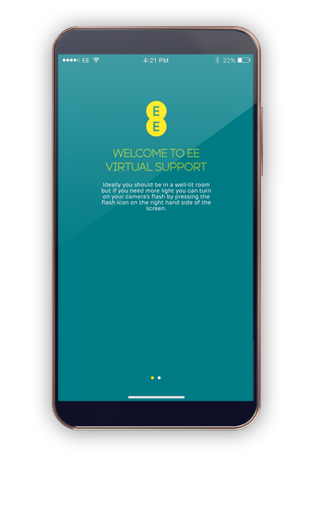 EE Virtual Support app interface