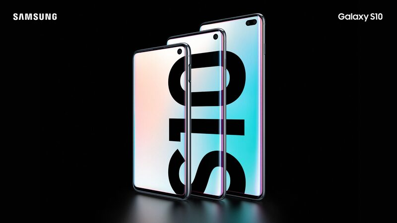 The Samsung Galaxy S10, S10+ and S10e