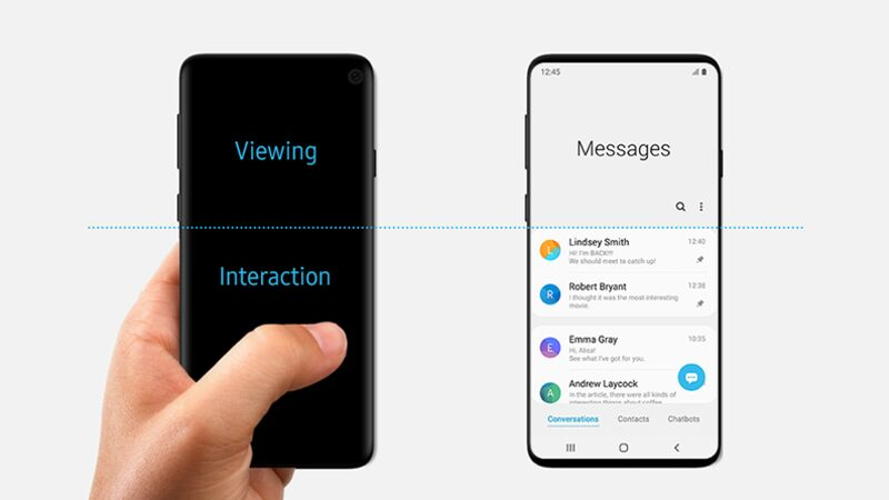 Samsung One UI messages screen