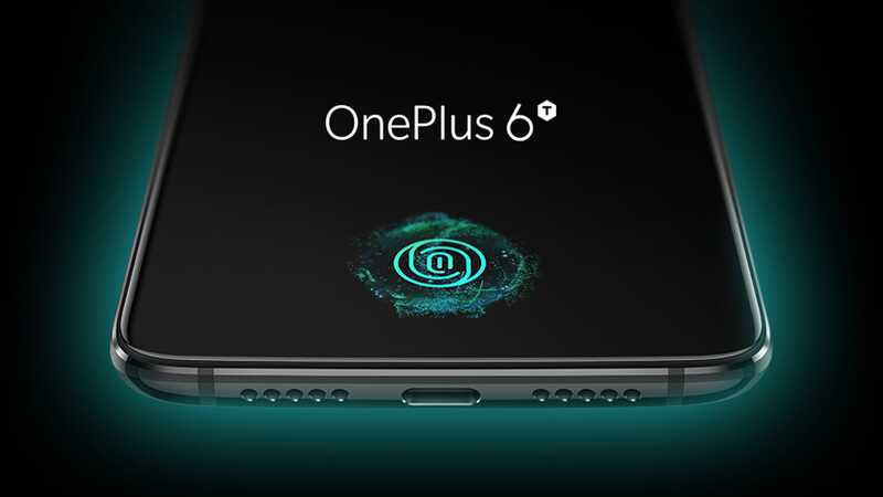 OnePlus 6T smartphone with on-screen fingerprint scanner