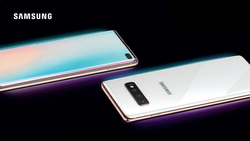 Samsung Galaxy S10 front and back