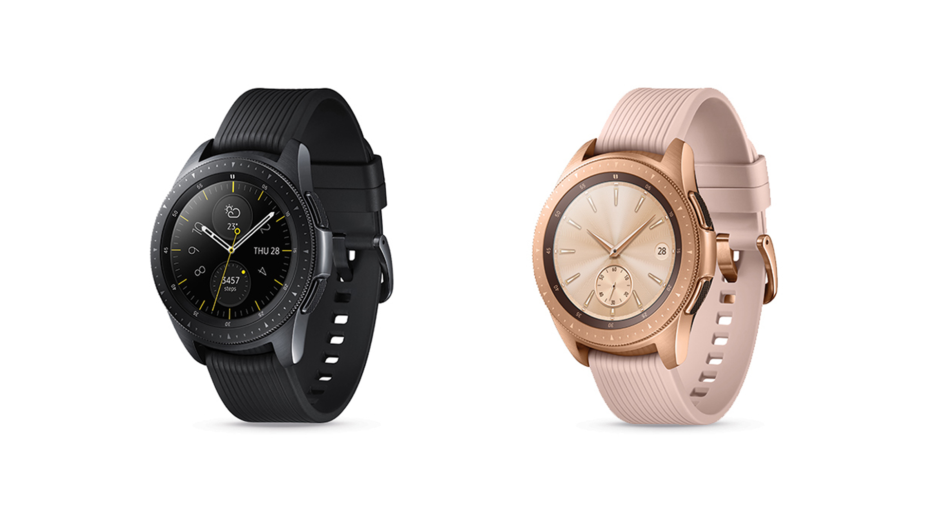 black and gold Galaxy Watches