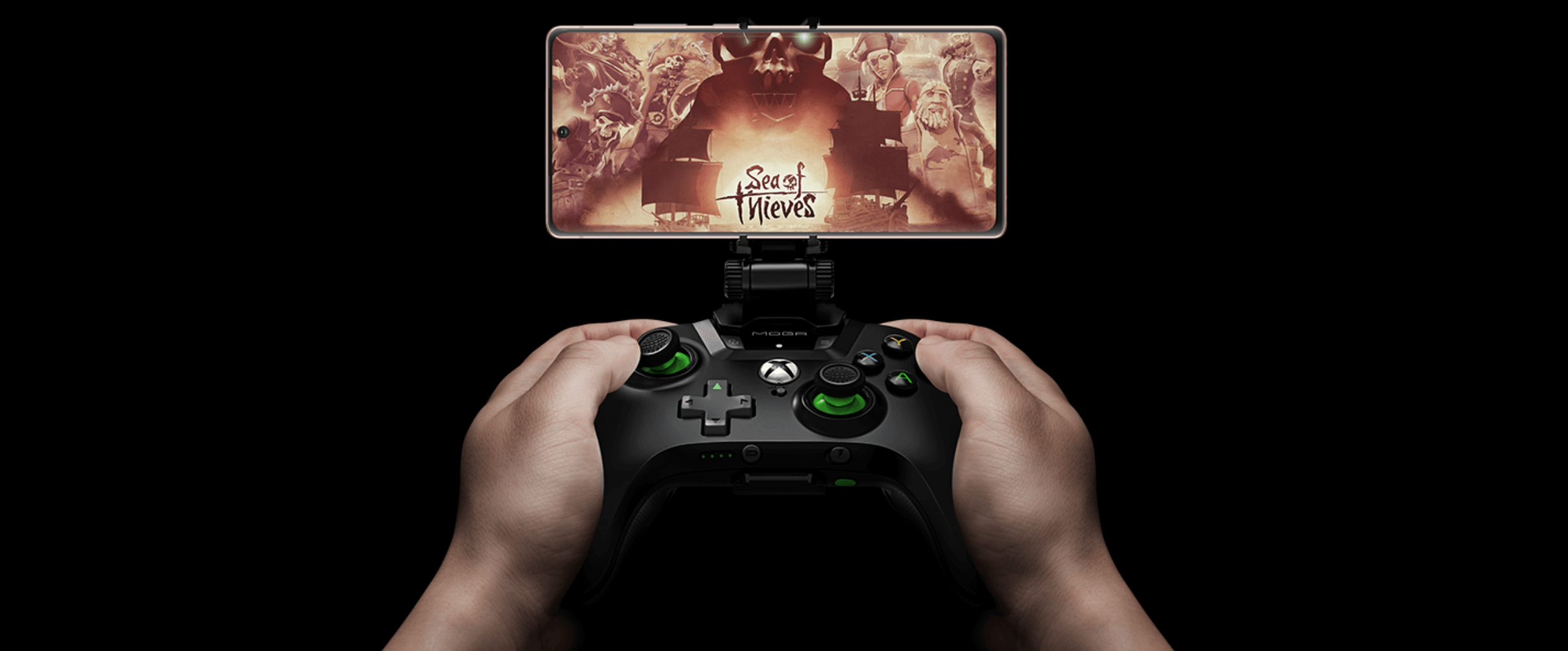 Xbox controller and Samsung Galaxy Note20 running Xbox xCloud