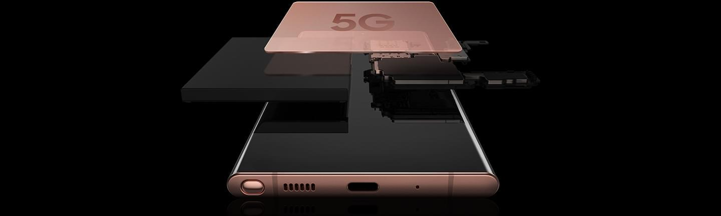 Image showing 5G chip inside Samsung Galaxy Note20