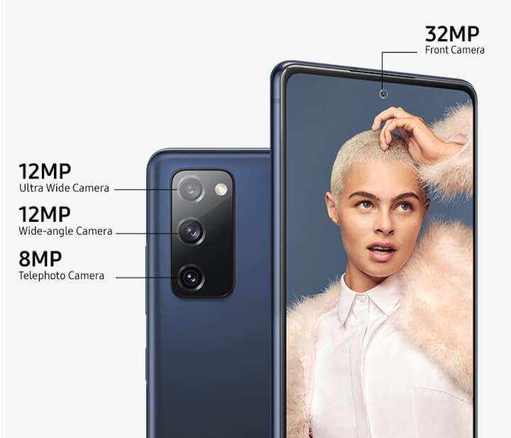 Galaxy S20 FE showing camera specification
