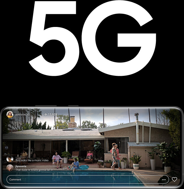 Samsung Galaxy S20 Ultra 5G streaming image