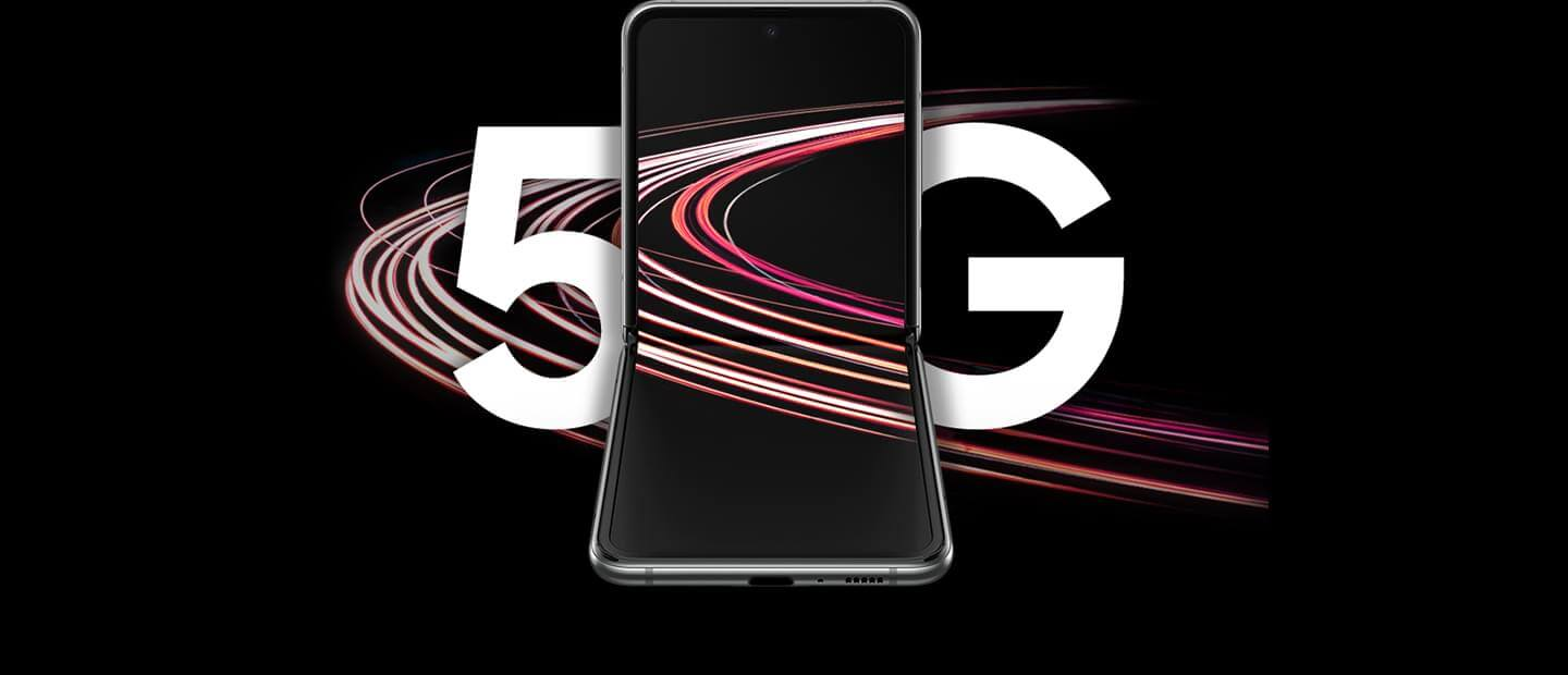 Samsung Galaxy Z Flip 5G with 5G logo