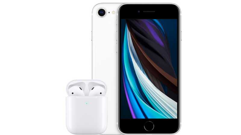 iPhone 11 64GB White with AirPods